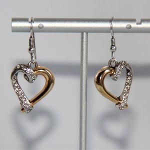 """""""Awakened Heart"""" Gold, Silver Swarovski Earrings"""